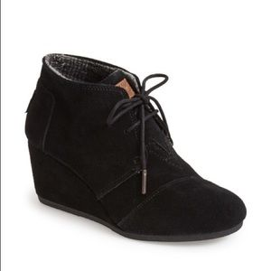 TOMS | 'Desert' Wedge Suede Ankle Booties